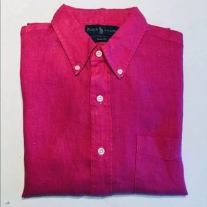 Polo Ralph Lauren Custom Fit 100% Linen shirt L